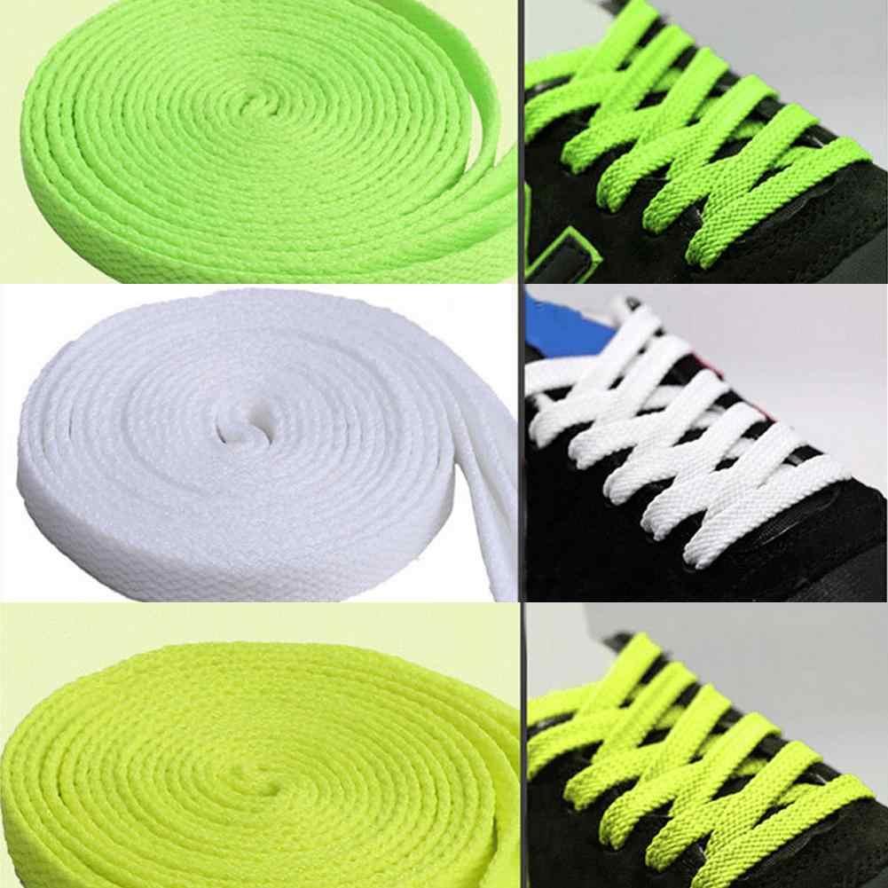 Nam Nữ Trẻ Em Phẳng Giày Sneaker Jogger Phẳng Dây Giày Thể Thao Đi bộ Giày Dây Phù Hợp Với Dây Đeo Ngoài Khơi Trắng Dây 60/ 90/120/150 CM
