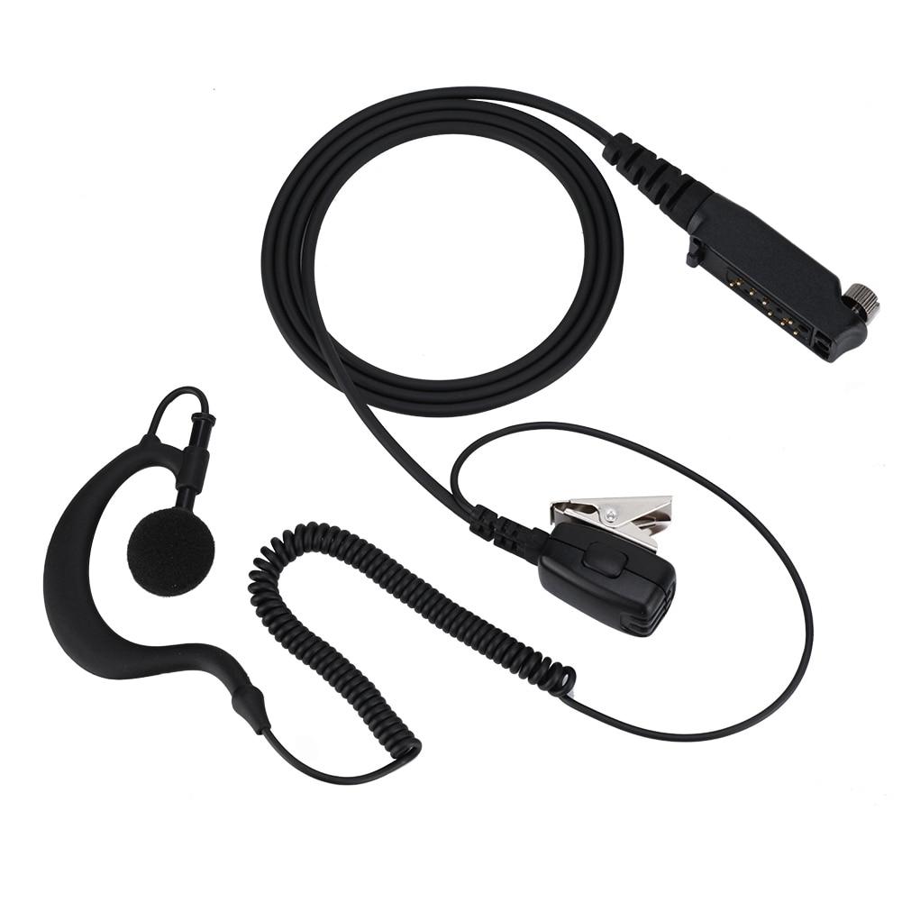 Wireless Walkie Talkie PTT Speaker Earpiece Ear Hook Headset Earphone For STP9000
