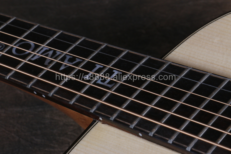 Professional Full Solid Guitar 38 quot guitar with Solid Spruce Top Solid Santos Body guitars china with by hand TA GSmini100A in Guitar from Sports amp Entertainment