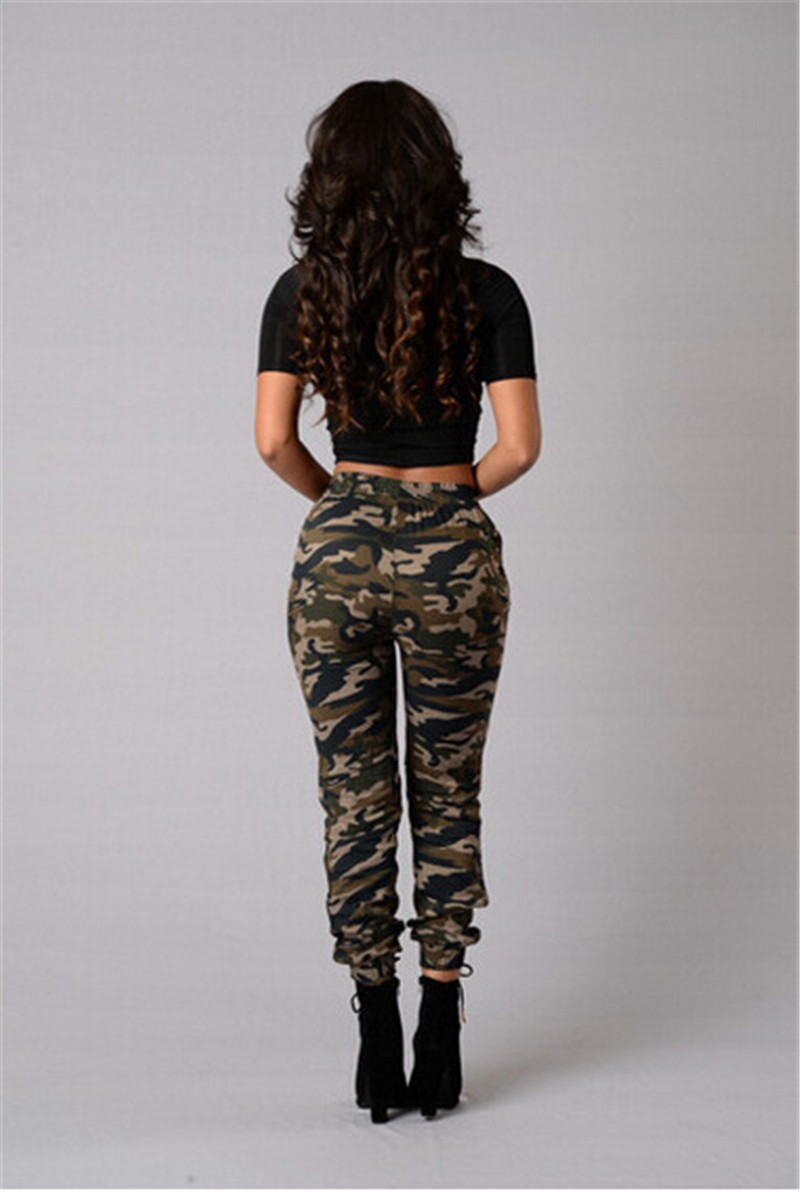 2019 New Stylish Women Camouflage Pants Camo Cargo Joggers Military Army Harem Trousers 5