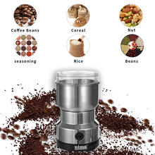 Home Küche Mini Edelstahl Klinge Kaffee Nüsse Körner Bean Schleifen Multifunktionale Elektrische kaffeemühle