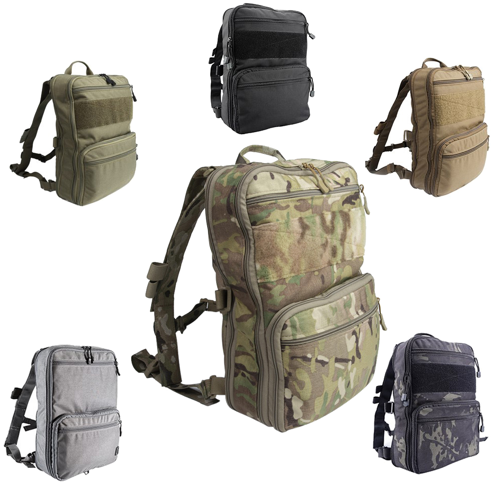 Flatpack D3 Tactical Backpack Molle Pouch Airsoft Military Gear Hydration Carrier Multipurpose Assault Backpack Travel Bag