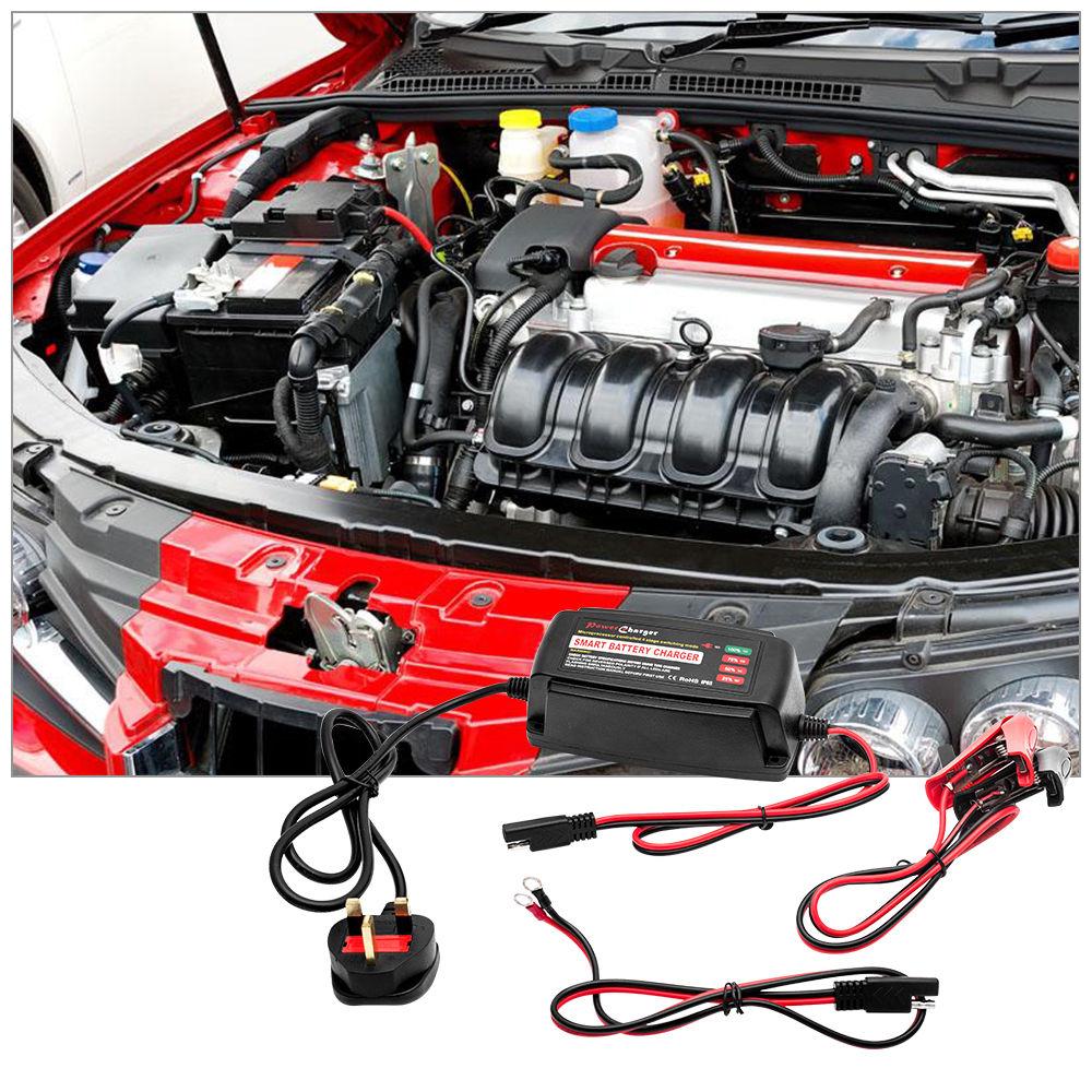 Date chargeur de batterie intelligent De Voiture Van Bateau Moto Camion IP65 Automatique De Voiture chargeur de batterie Avec la Prise D'ue 12 V 5A
