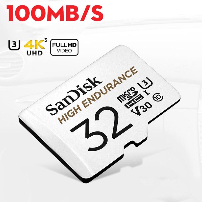 Карта памяти SanDisk, высокая прочность, 32 ГБ, 64 ГБ, карта MicroSD SDHC/SDXC Class10, 40 МБ/с./с, TF-карта для мониторинга видео