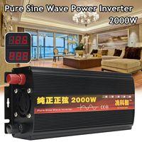 Inverter 12V 220V 2000/3000/4000W Voltage transformer Inverter DC12V to AC 220V Converter + 2 LED Display Pure Sine Wave Power