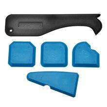 5pcs/set Sealant Smoothing Kit Silicone Caulk Grout Spreader Joint Finishing Smoother Mayitr