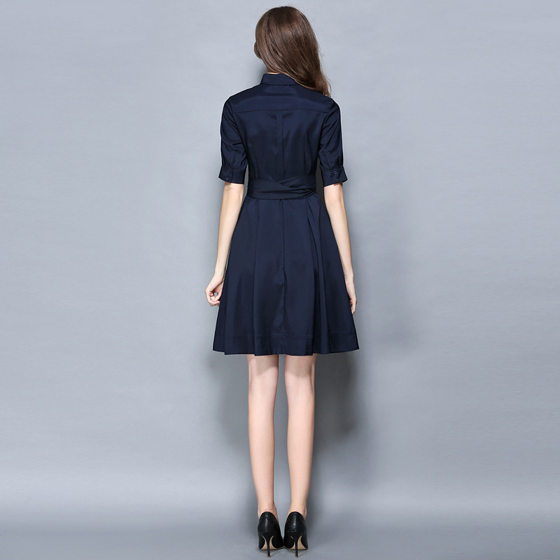 Vintage S Turn Mode D'arc long L down Sleeve M Sleeve D'hiver Xxl Ol Xl Robe Half Femmes 2019 Collar Robes RdqRF