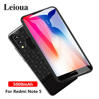 Leioua New 5000Mah Smart Battery Charger Case For Xiaomi Redmi Note 5 Battery Case Cover Power Bank External Battery Phone