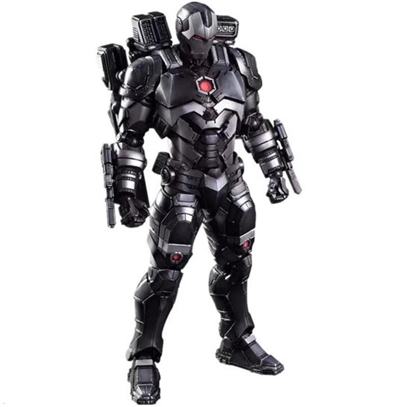 Marvel Comics Play Arts Kai Marvel 25cm War Machine Iron Man Super Hero Ironman PVC Action Figures toys Anime figure Toys gifts