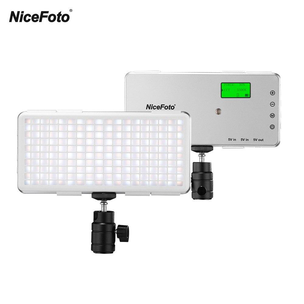 NiceFoto ice studio video photo light photographic lighting Fill Light 3200K 6500K CRI 96 with Ballhead