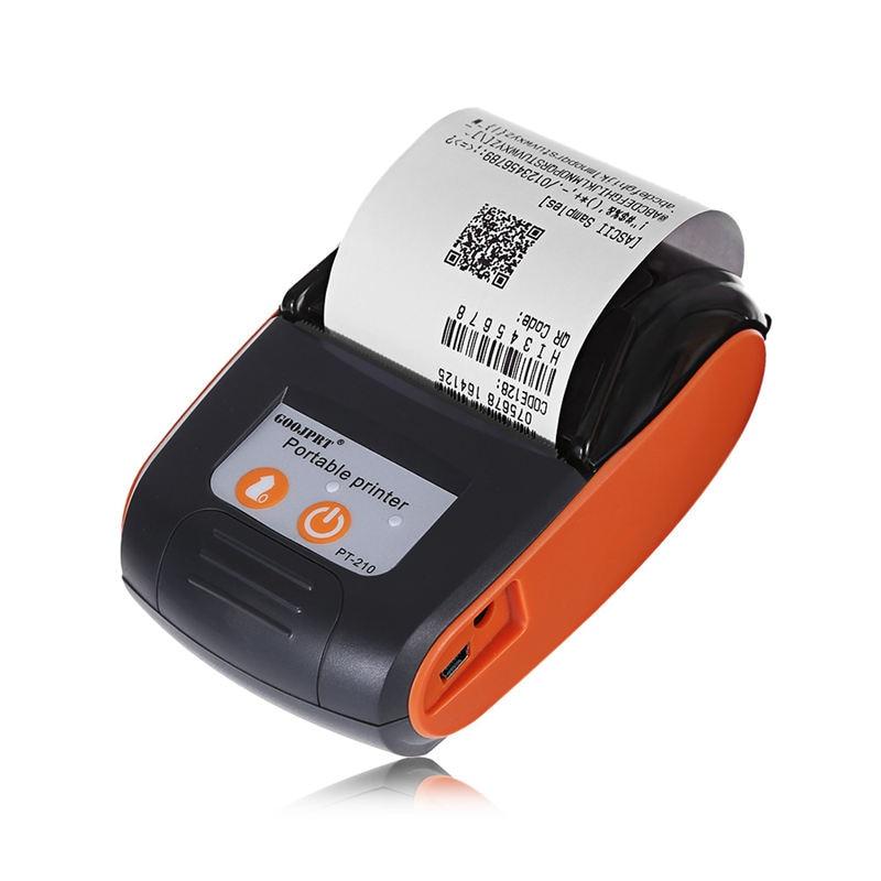 Goojprt Pt210 58Mm Mini Pocket Bluetooth Printer Wireless Thermal Receipt Printer For Mobile Phone Android IOS Windows Eu Plug