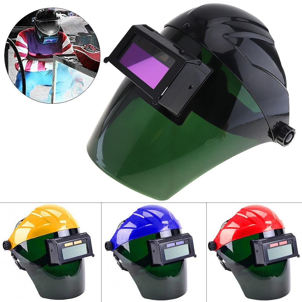 Solar Automatic Variable Light Welding Helmet Face Shield Solder Mask transparent lens anti uv anti shock welding helmet face shield solder mask face eye protect shield anti shock