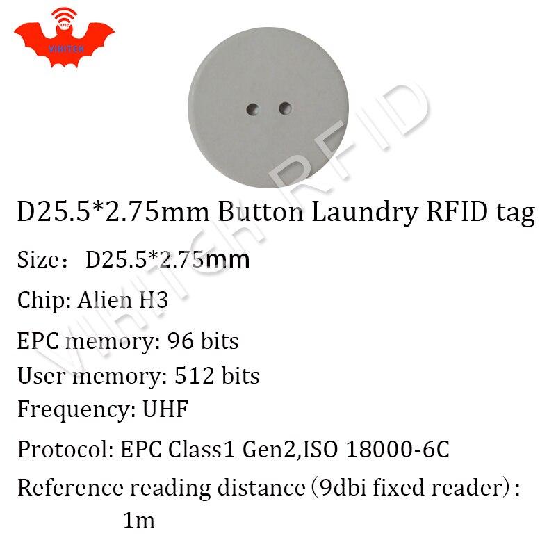UHF RFID çamaşır etiketi VIKITEK 10 adet 915 MHZ 860-960 MHZ Alien - Güvenlik ve Koruma - Fotoğraf 6