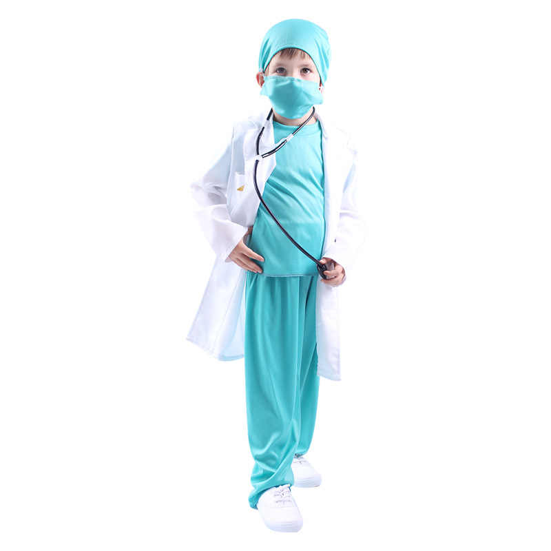 9cb48845a0d98 Doctor Costume For Kids Halloween Doctor Cosplay Costume For Boys Girls  Uniform Children Hospital Suit