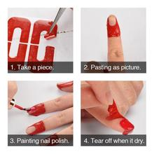 50pcs/set U-shaped Disposable Spilling Proof Nail Polish Stickers Finger Cover Decals Protector DIY Nails Art Tools