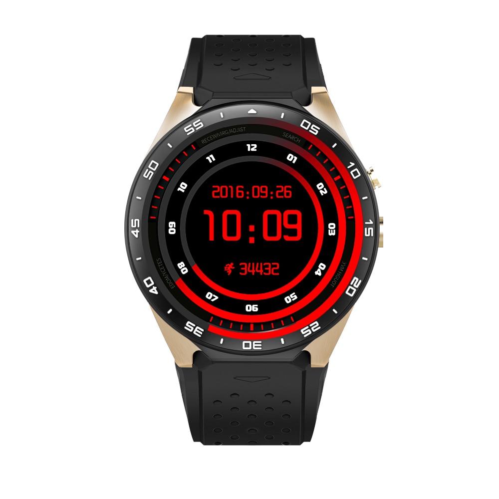 цена на Kingwear KW88 Smart Watch Phone GPS Navigation Nano SIM 3G Network 2MP Camera Smartwatch ROM 4GB RAM 512MB BT4.0 WIFI Quad-core