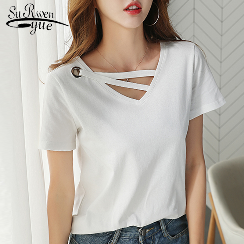 2019 Summer Women T Shirt 50 Fabulous Ladies 50th Birthday: Fashion Women T Shirt 2019 Summer V Collar Cotton Female