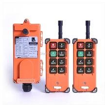 Universalขายส่งTelecrane F21 E1Bอุตสาหกรรมไร้สายวิทยุRF Control 2เครื่องส่งสัญญาณ1เครื่องรับสำหรับรถบรรทุกเครน