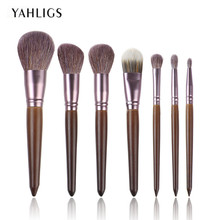 YAHLIGS 7pcs Pro Brushes Set High Quality Make Up Brushes Full Function Studio Makeup Brush Kit Cosmetic Beauty Tool Hot YA69 hot new arrival 100% brand new and high quality make up brushes set of professional make up brushes to high quality beauty anne