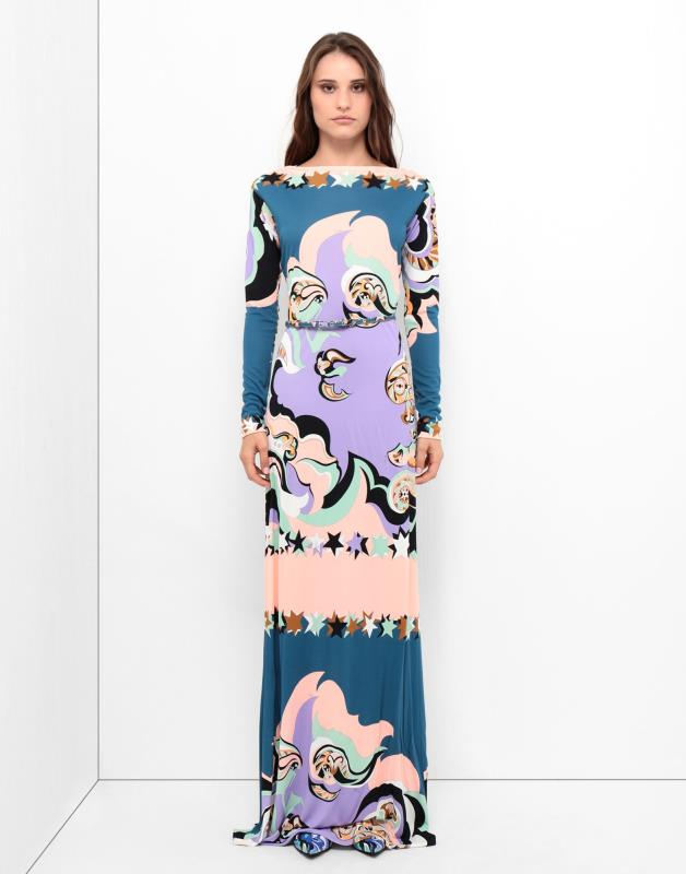 2019 Nieuwe Modeshow lange mouwen mode o hals zijde slanke jurk-in Jurken van Dames Kleding op  Groep 2