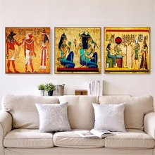 Egypt Classic Retro Artwork Vintage Poster Prints Oil Painting On Canvas Wall Art Murals Pictures For Living Room Decoration