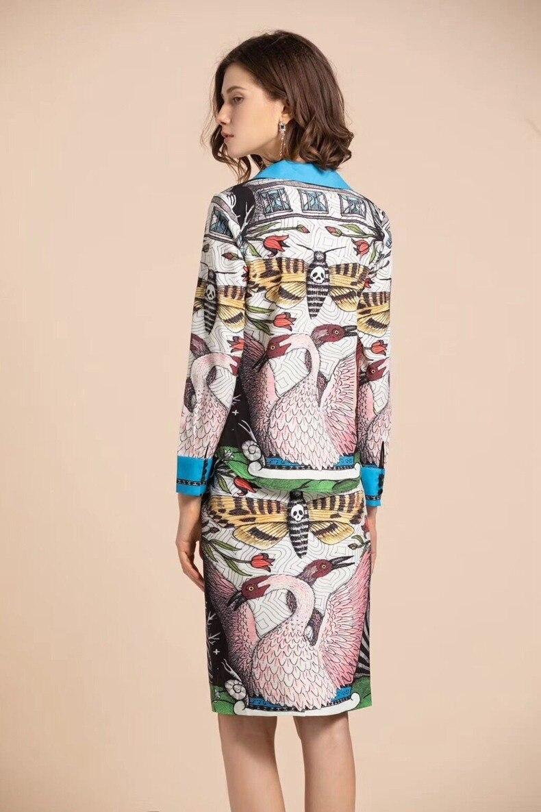 Clou Piste Chemise Revers Perle Designer 2019 Moitié Manches Printemps Impression À Mince Dames Longues Nouveau Antiques Figure Haute Manières rr0Cdcq