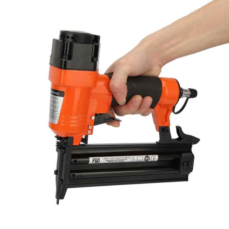 F50 Pneumatische Schiethamer Rechte Nagel Lucht Aangedreven Tackers Nietmachine Nietpistool 18GA 1.25x1.0mm Houtbewerking Nail Gun