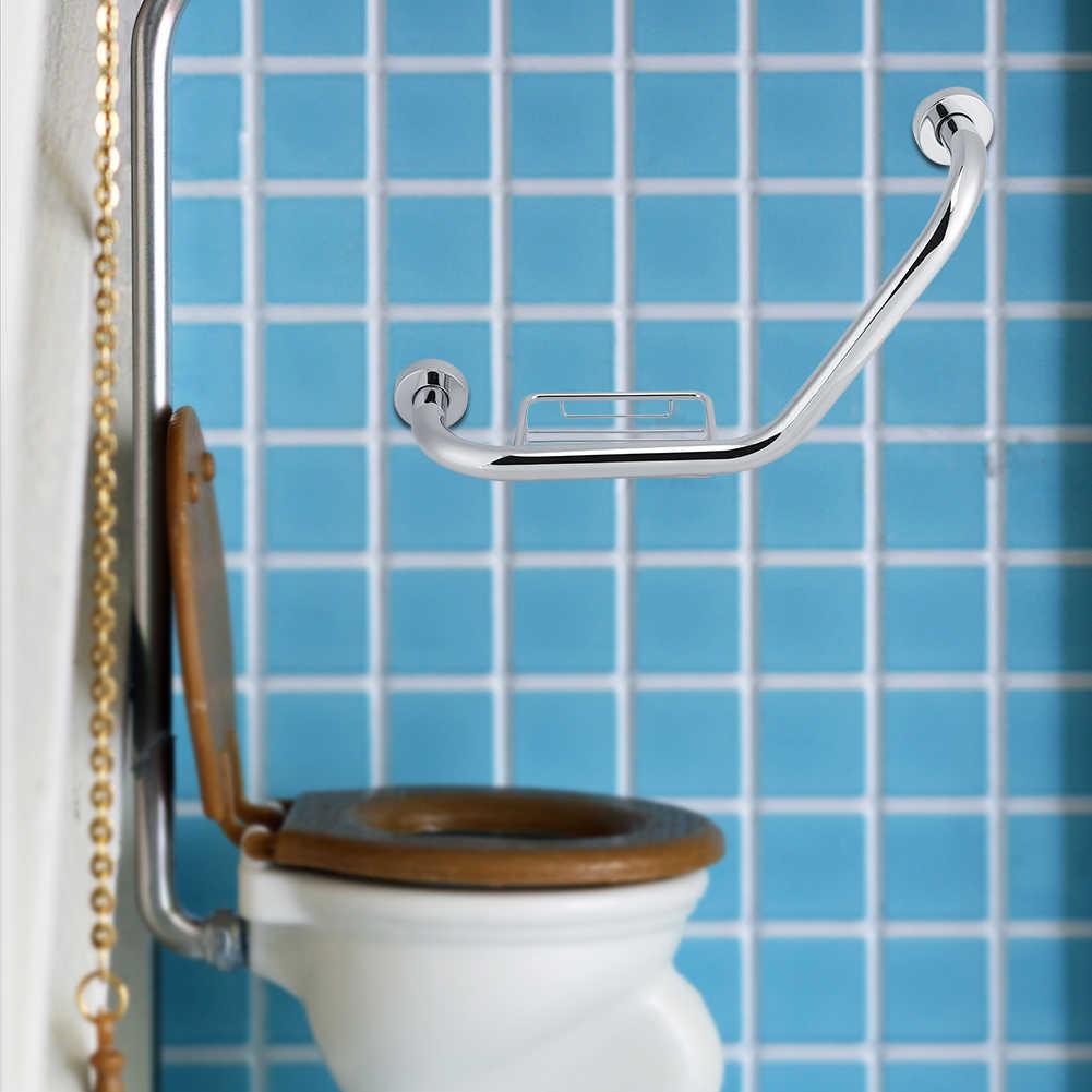 Phòng Tắm Inox Lấy Thanh W/Xà Bông Tắm Cánh Tay Tay Cầm An Toàn Tắm Bồn Tắm Chống Trơn Trượt Tay Cầm dành cho Người Cao Tuổi