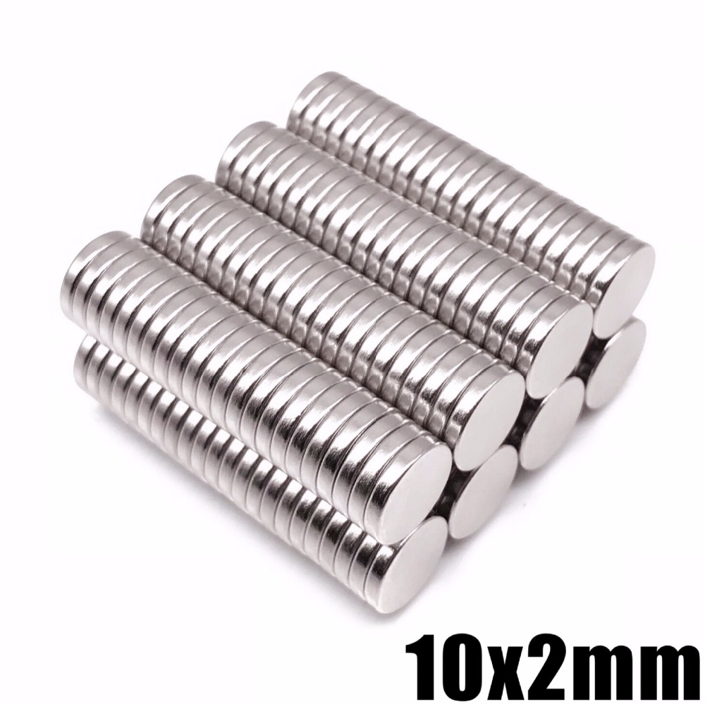 50Pcs Neodymium Magnet Sheet 10x2mm N35 Permanent Small Round Super Powerful Strong Magnetic Magnets For Craft 10*2mm