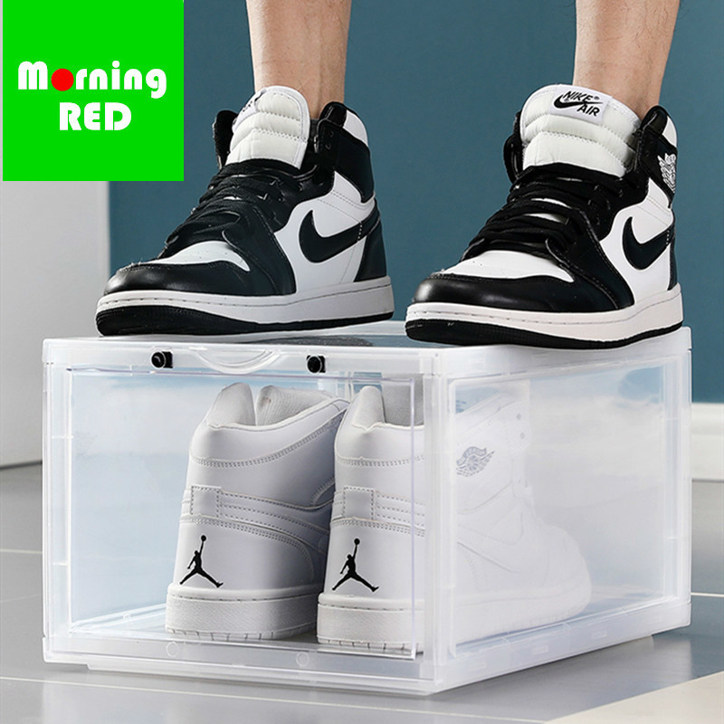 c172276881d9 2019 The New Listing Luxury Sneakers Shoebox Anti Oxidation Plastic High  End Transparent Shoe Box Store Shoes Display Cabinet