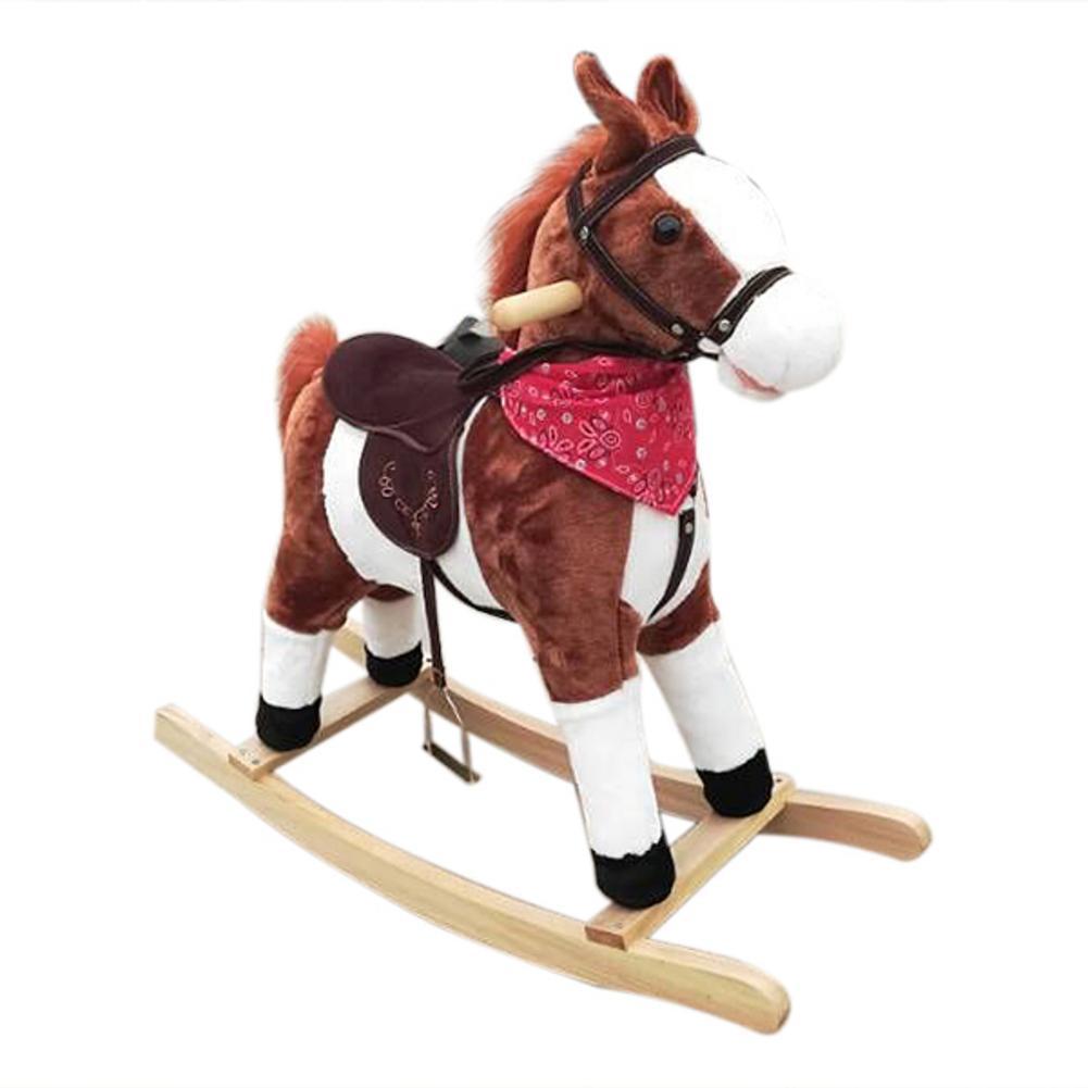 Bonne vie!!! 3-8 ans jouet mécanique à bascule à cheval pour enfants musique poney jouets anniversaire enfants cadeaux pour garçon fille - 6