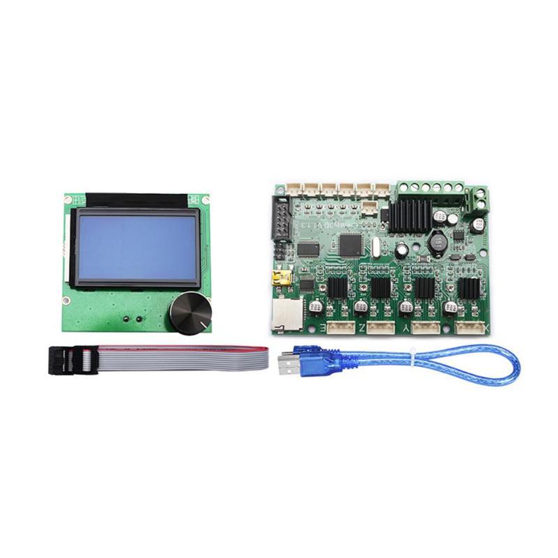 ALLOYSEED 3D imprimante Ender-3 Ender-3S carte mère mère + 12864 LCD câbles d'affichage