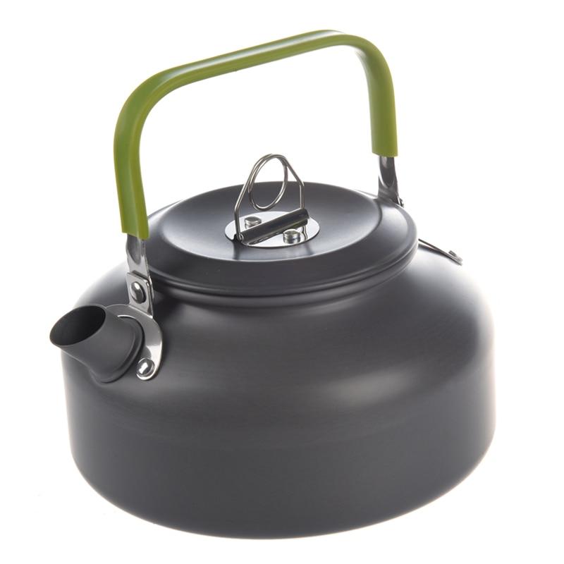 0.8L Portable Ultra-léger randonnée en plein air Camping survie bouilloire d'eau théière cafetière en aluminium anodisé