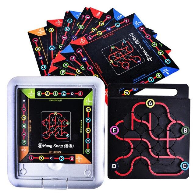 64 проблемы станции подключения метро настольная игра логическое мышление обучение IQ игра Семейная Игра интерактивные игрушки для детей 48