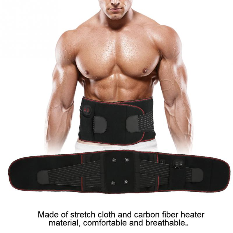 3 Types Magnet Far Infrared Vibration Massage Heat Compress Waist Back Pain Relieve Therapy Belt Waist