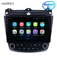 Harfey Head Unit 10.1 inch GPS Navigation Android 8.1 Car Radio Multimedia Player For Honda Accord 7 2003 2004 2007 WIFI Music