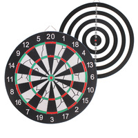 Multicolor Dart Board, 12/15/17/18 inch Tournament Sized Indoor Hanging Number Target Game For Steel dart target