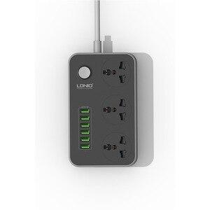 Image 3 - Tira de alimentación de plomo de extensión USB, 6 cargador de enchufe múltiple, toma de 3 vías, zócalo de salida de tiras de tablero estándar británico,