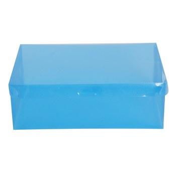 Shoe Box Shoe Box Shoe Box Shoe Storage Box Plastic Foldable Shoe Box Organizer (Blue)