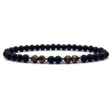 где купить New Trendy Bracelet Men Classic 6mm matte /Tiger Eye Natural Stone beads handmade Charm Bracelets For Men Fashion Jewelry Gift по лучшей цене