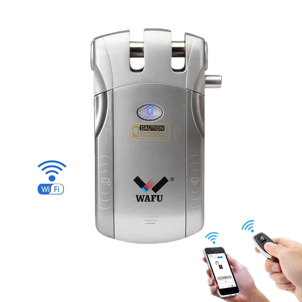 WIFI APP Déverrouillage À Distance et À Distance contrôle de la touche D'entrée Sans Clé Invisible Électronique Sans Fil serrure de porte intelligente
