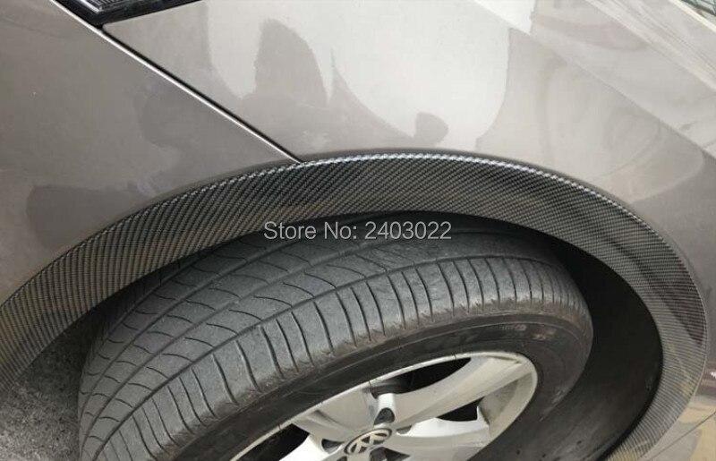 universal de fibra de carbono anti riscos truck car roda sobrancelha 05