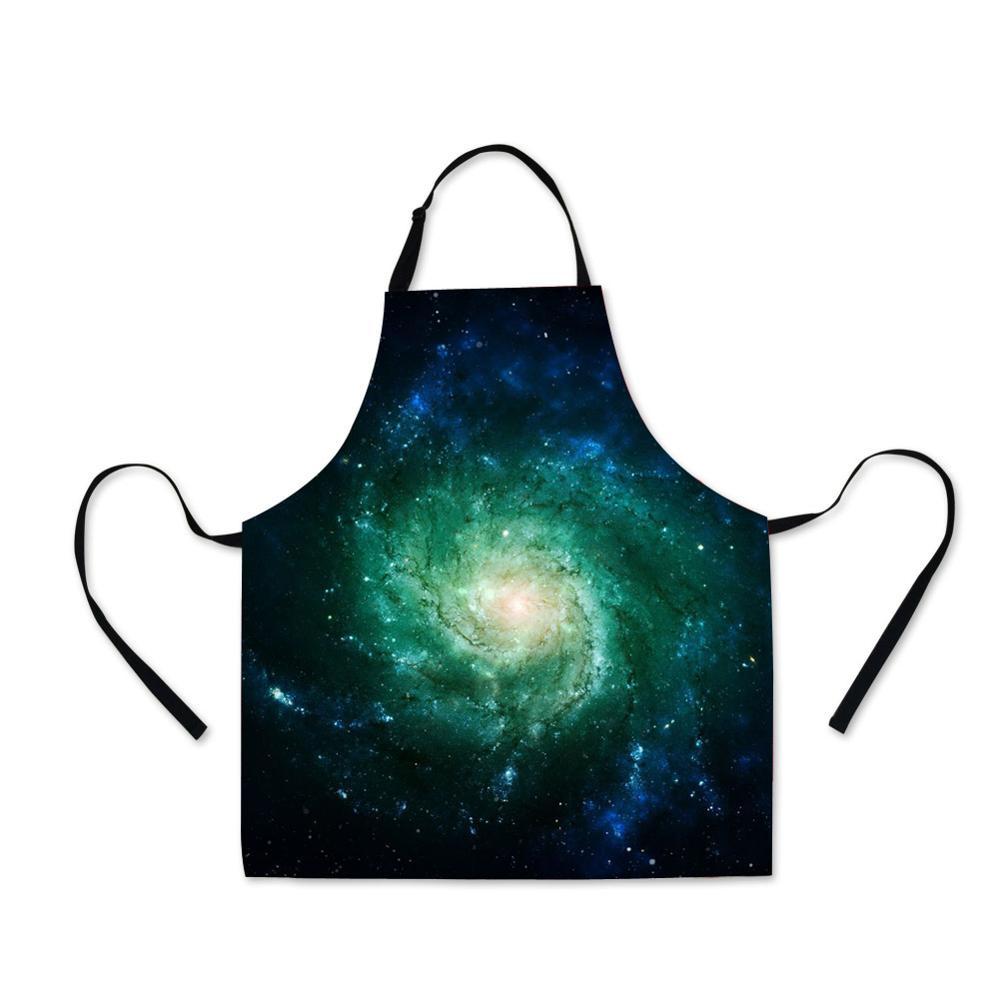 Eerlijk Chef Galaxy Patroon Vrouwelijke Waterdichte Schort Volwassen Slabbetjes Thuis Koken Bakken Koffie Winkel Schoonmaken Mannelijke Schorten Keuken Accessoires