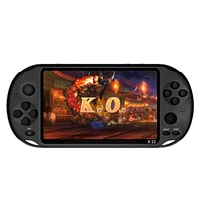 Powkiddy 5.1 Inch 8G Retro Game Console HD Screen Dual Joystick Handheld Game Player Family TV Retro Video Consoles Built In 1