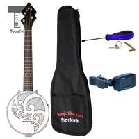 Tooyful 4 String Banjo Ukulele Uke 26inch Birch with Gig Bag Tuner Musical Instrument