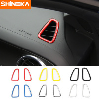 SHINEKA Car Dash Board Left & Right Air Outlet Vent Ring Sticker Decal Trim For Chevrolet Camaro 2017 Interior Accessories