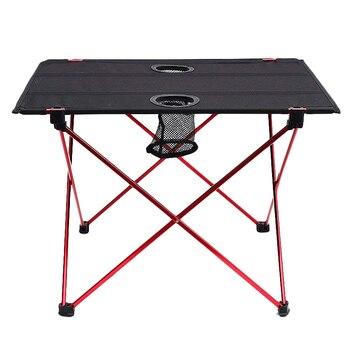 легкие складные столы | Легкий складной стол с подстаканниками наружная дорожная складная Таблица