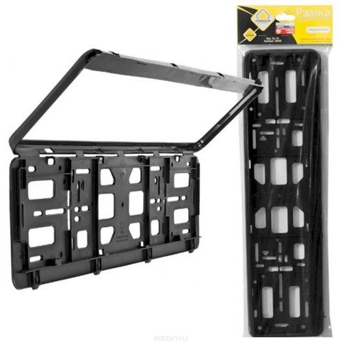 License plate frame with snap fastener ГЛАВДОР GL-70, Black