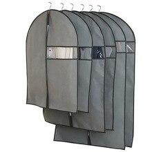 Funda antipolvo para ropa funda de tela no tejida para colgar en el hogar traje de abrigo protector bolsa de almacenamiento organizador de guardarropa AQ065