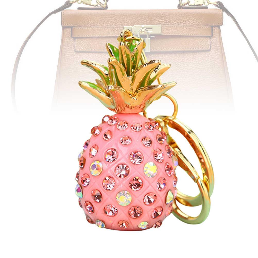 1 шт. брелок блестящий в форме пиняблока Стразы металлические кристалл брелок для сумки на плечо рюкзак для девочек кошелек